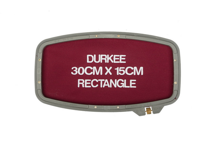 Durkee 30CM x 15CM (12 in. x 6 in.) Rectangle Traditional Embroidery Hoop - Compatible with Many Machines