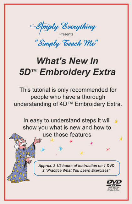 Simply Teach Me - Whats New in 5D Embroidery