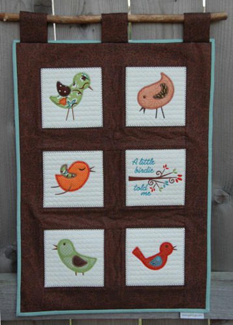 Embroidery Garden Birdie Applique Set