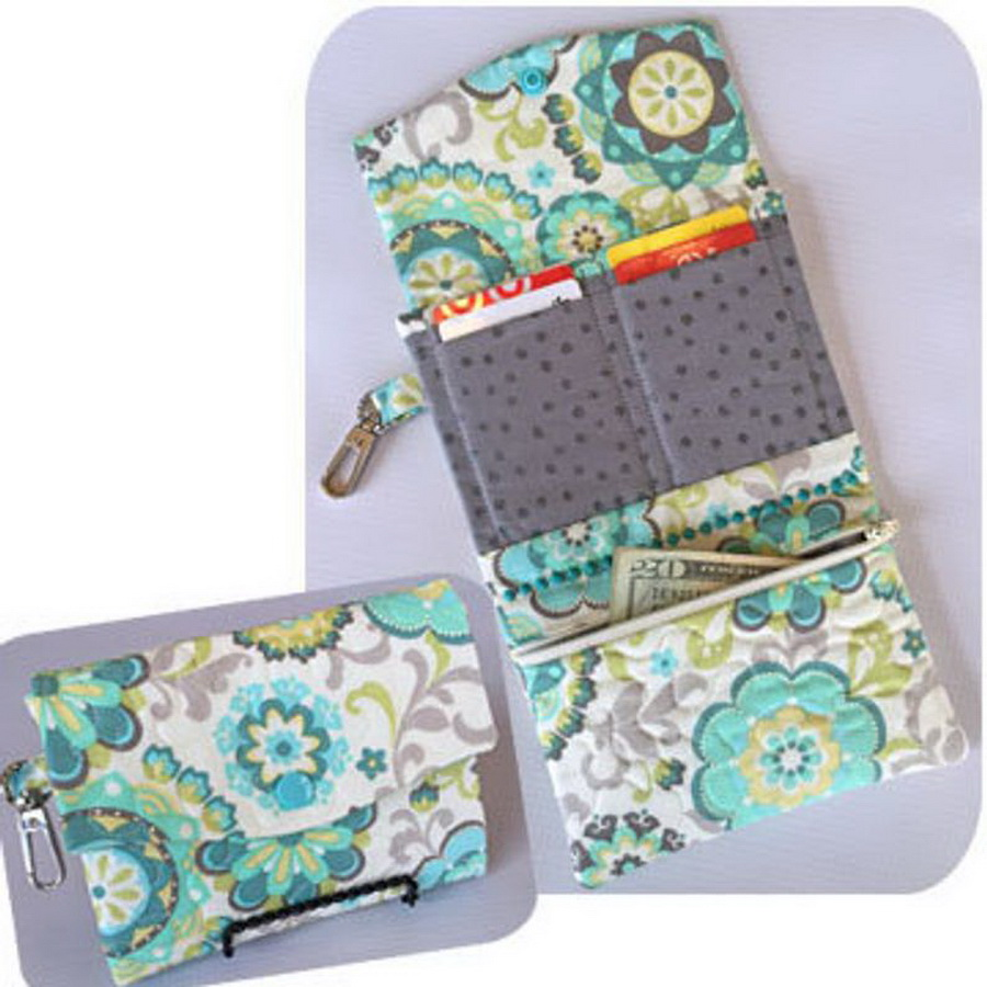 Embroidery Garden TriFold Wallets Set