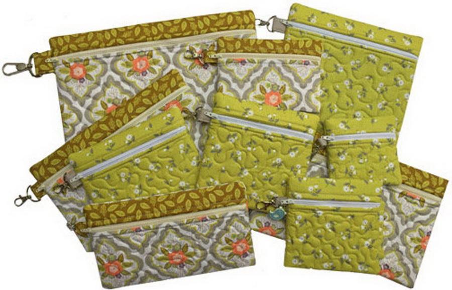 Embroidery Garden Zippered Bags Set