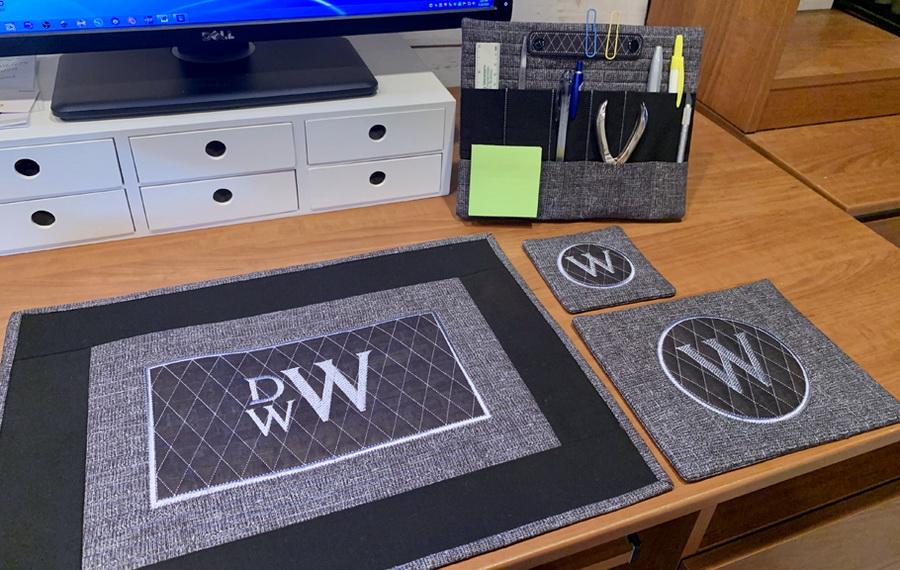 Embroidery Garden Desk Organizer Set