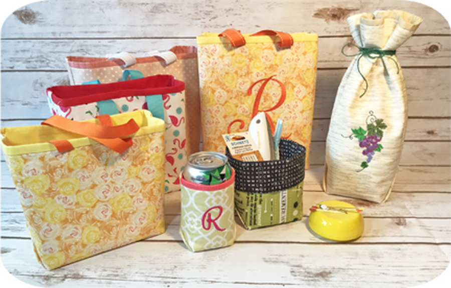 Embroidery Garden Boxy Bags Set