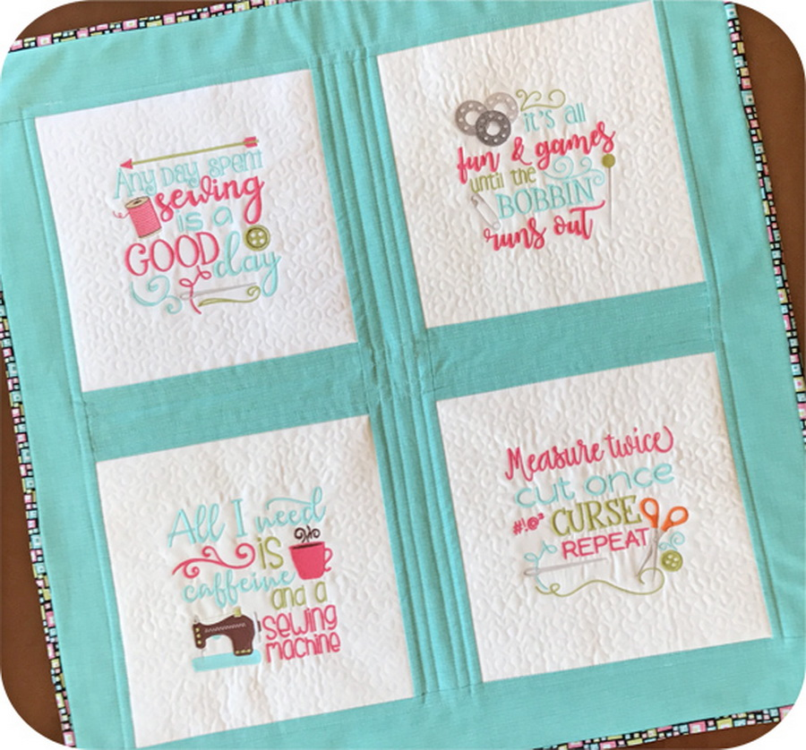 Embroidery Garden Sewing Sayings