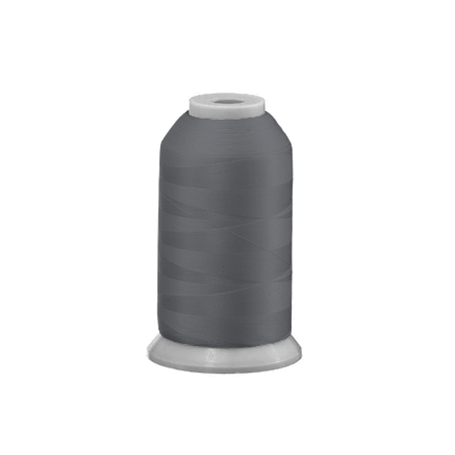 Exquisite Polyester Embroidery Thread - 114 Grey 1000M Spool