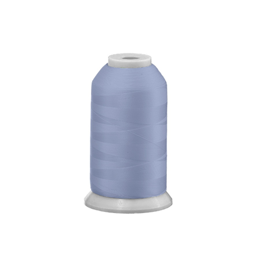 Exquisite Polyester Embroidery Thread - 379 Powder Blue 1000M Spool