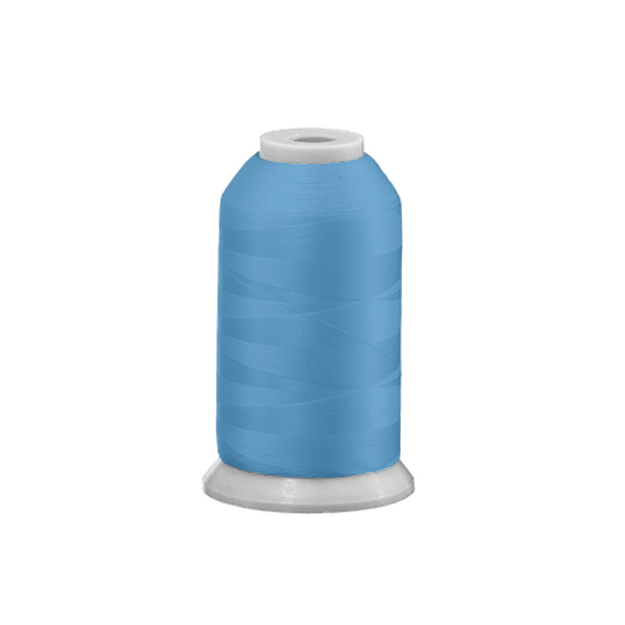 Exquisite Polyester Embroidery Thread - 405 Carolina Blue 1000M Spool