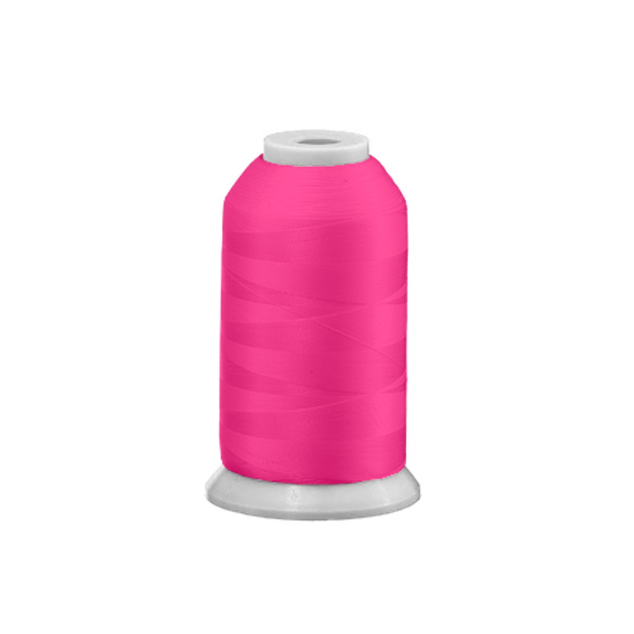 Exquisite Polyester Embroidery Thread - 46 Neon Pink 1000M or 5000M