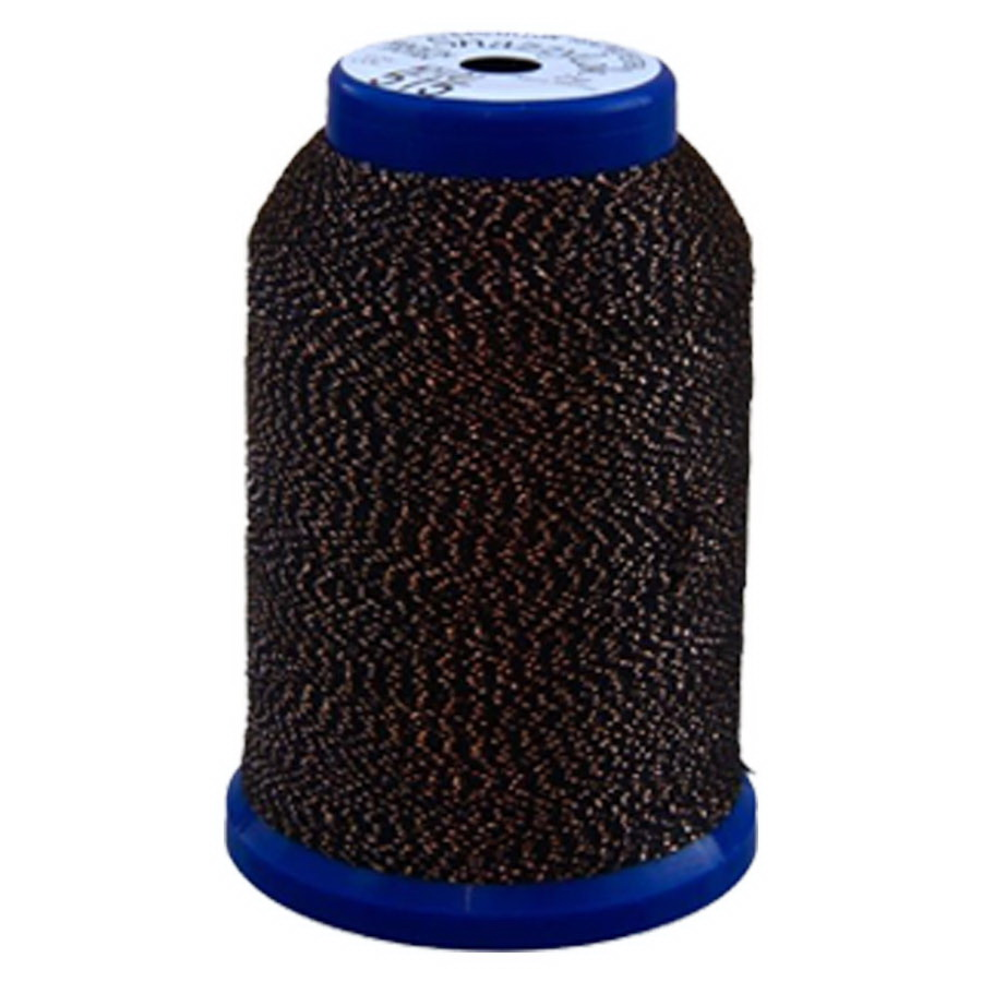 Exquisite Snazzy Lok Serger Thread - A760515 Black Gold 1000M Spool
