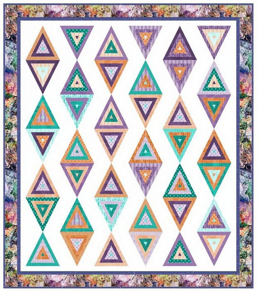 Beaded Curtain Quilt Fabric Kit from Pieced Brain Quilt Designs