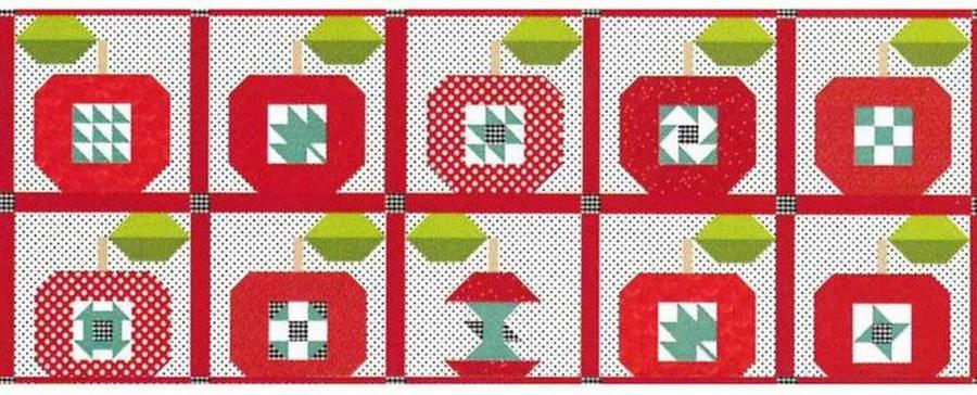 Riley Blake Apple Spice Table Runner Fabric Quilt Kit