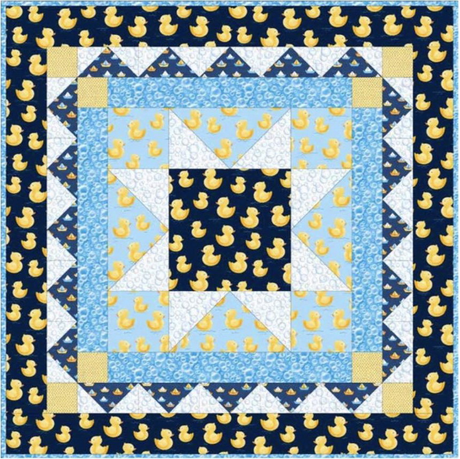 Quackers Crib Fabric Quilt Kit