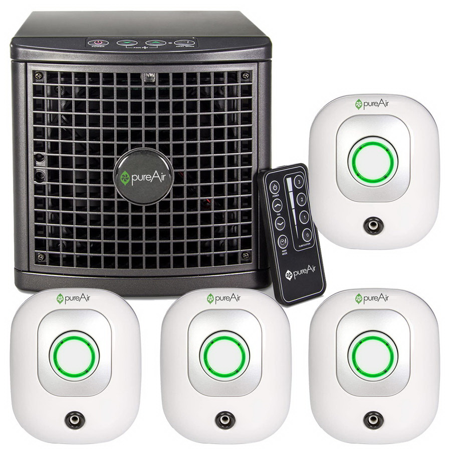 GreenTech Whole Room Bundle - (4) pureAir Plug 50 and (1) pureAir 1500