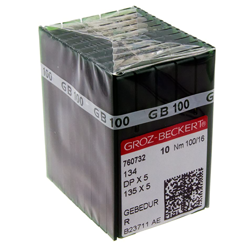 Groz-Beckert 135X5-GBD  SIZE  100/16 100/BOX GOLD LABEL 760732