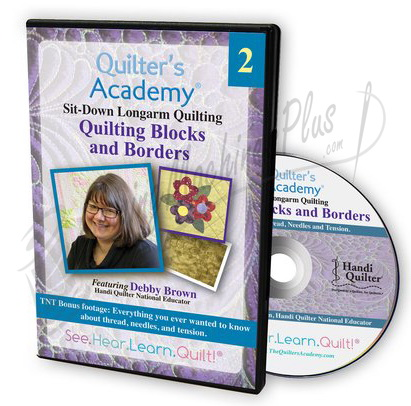 Sit-Down Longarm Quilting Featuring Debby Brown - Vol. 2 Quilting Blocks and Borders DVD
