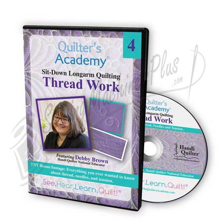 Sit-Down Longarm Quilting Featuring Debby Brown - Vol. 4 Thread Work DVD