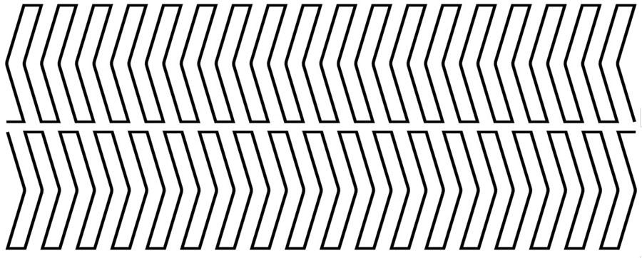 Groovy Board - 10in. Stripes Left Template