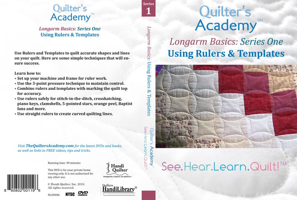 Handi Quilter  Longarm Basics: Using Rulers & Templates (DVD)