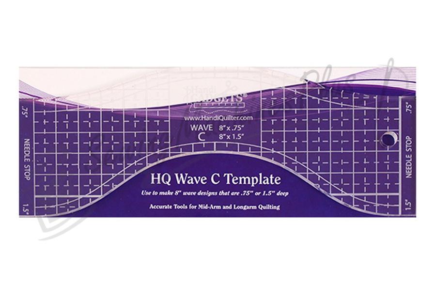 "Handi Quilter Wave C 8"" Ruler - HQ00610"