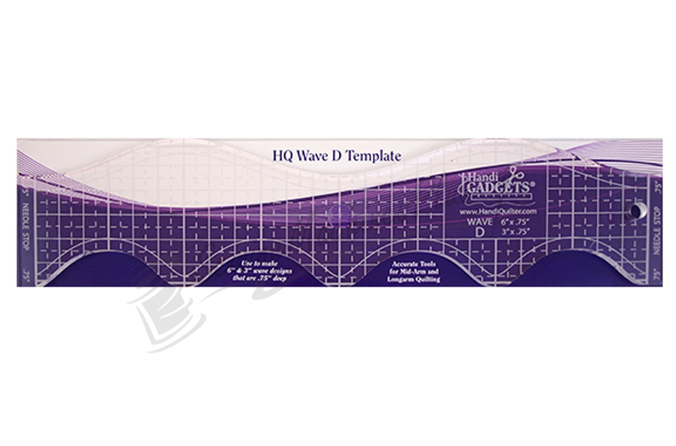 "Handi Quilter Wave D 6""&3""  Ruler - HQ00611"