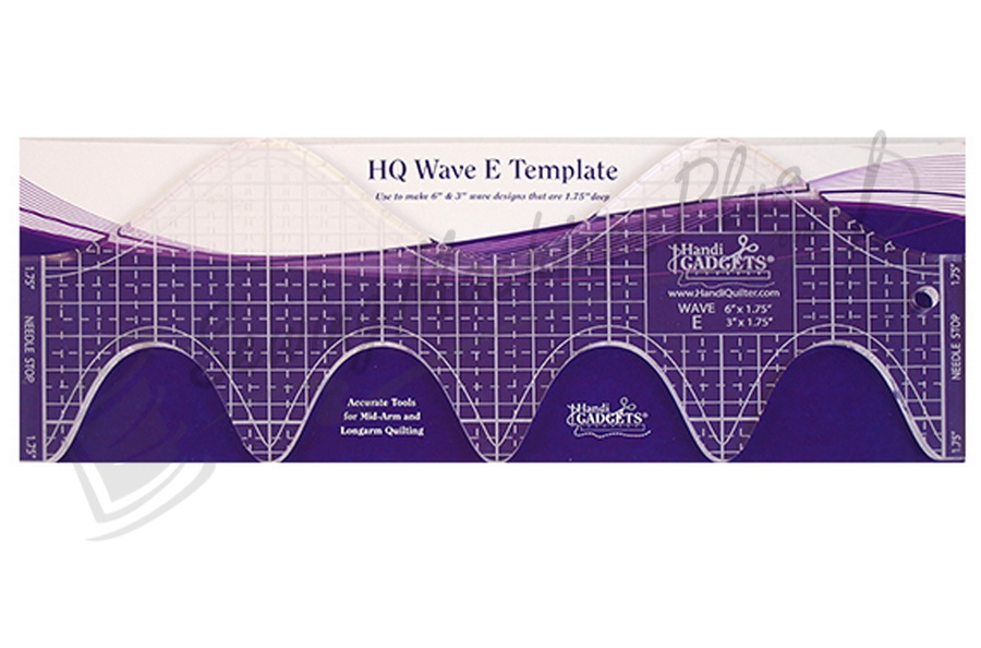 "Handi Quilter Wave E 6""&3""  Ruler - HQ00612"