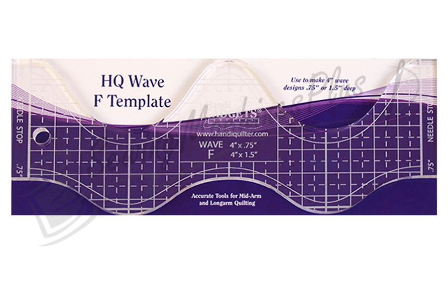 """Handi Quilter Wave F  4"""" Ruler - HQ00613"""