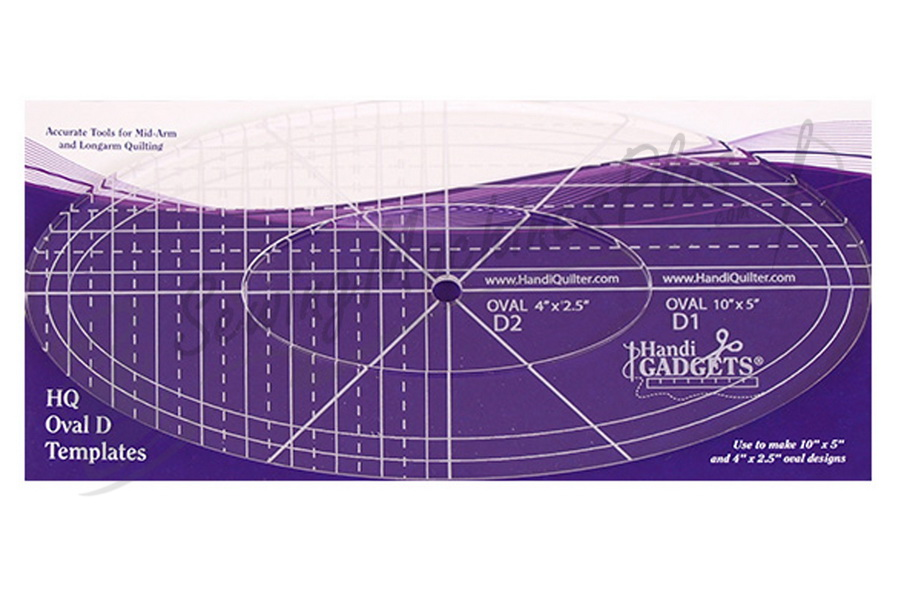 """Handi Quilter Oval D 10"""", 4""""  Ruler - HQ00620"""