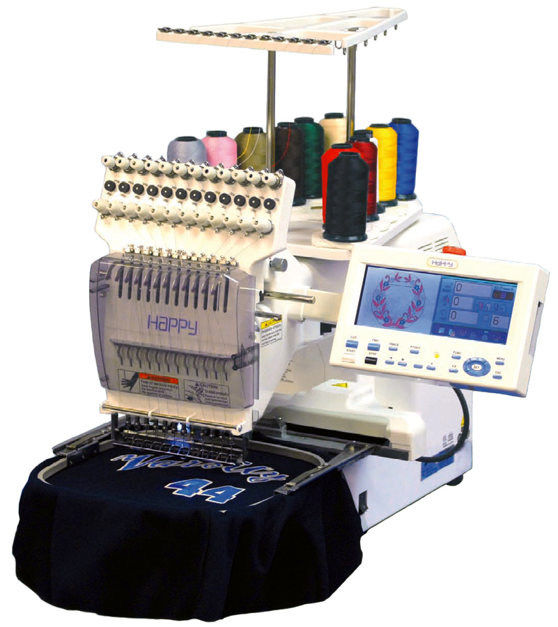 Happy 12-needle Professional Embroidery Machine - Voyager 1201