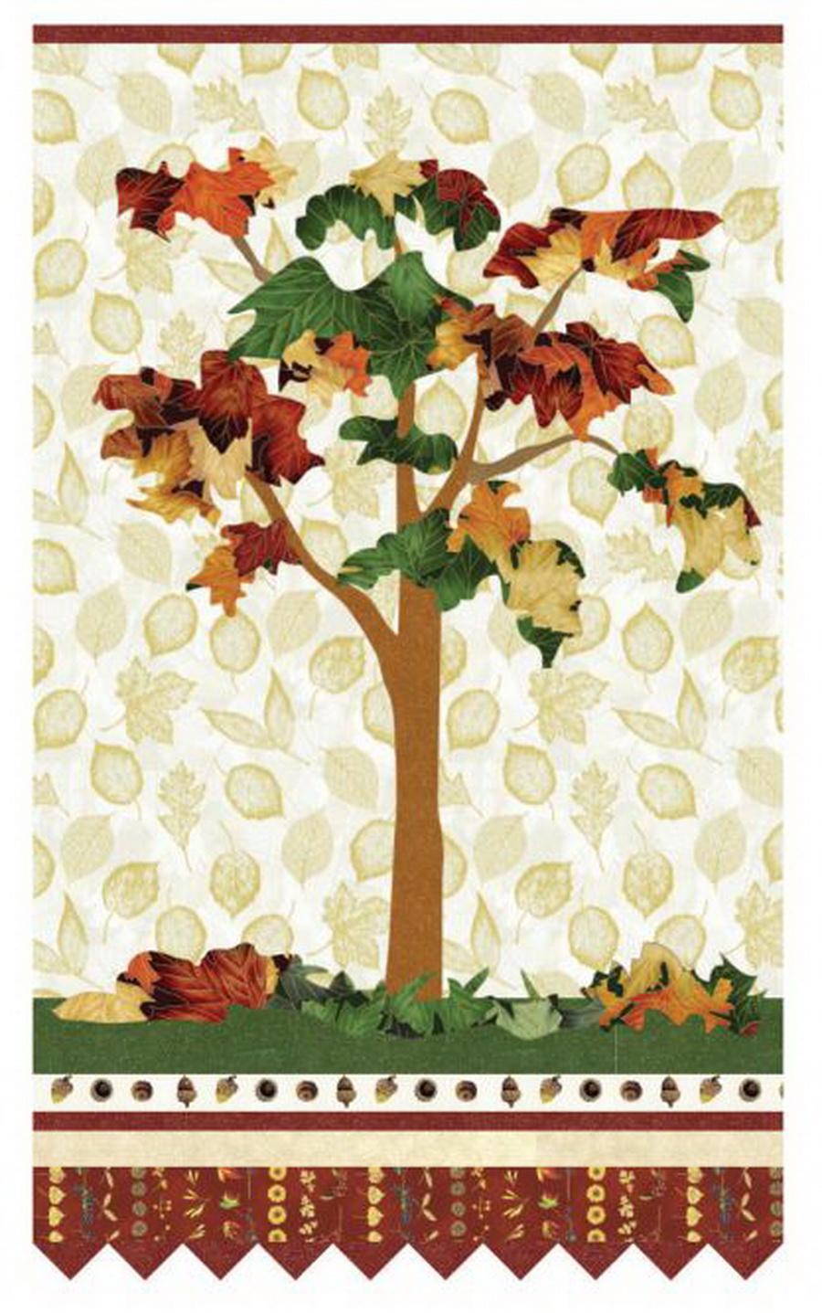 Hoffman Fabrics - Falling Leaves Quilting Fabric Kit