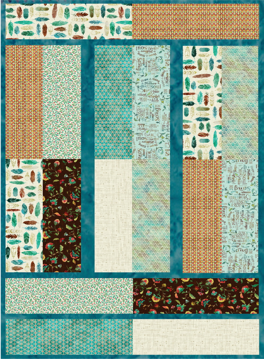 Hoffman Fabrics Slice and Sew Kit