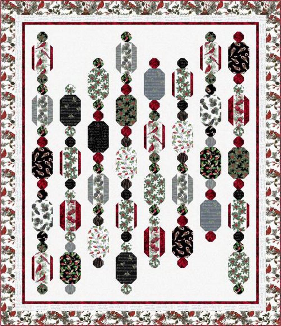 Hoffman Fabrics - Winter Garland Fabric Quilt Kit
