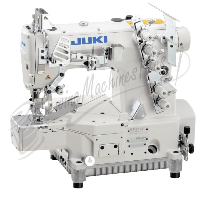 Juki MF-7923 - 3 Needle Coverstitch Industrial Machine, Cylinder Bed w/ Table & Motor