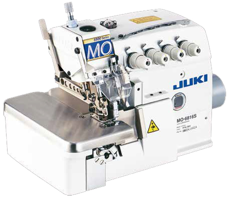 Juki MO-6816 - 5 Thread High-speed Overlock / Safety Stitch Industrial Serger, w/ Table, Stand and Servo Motor