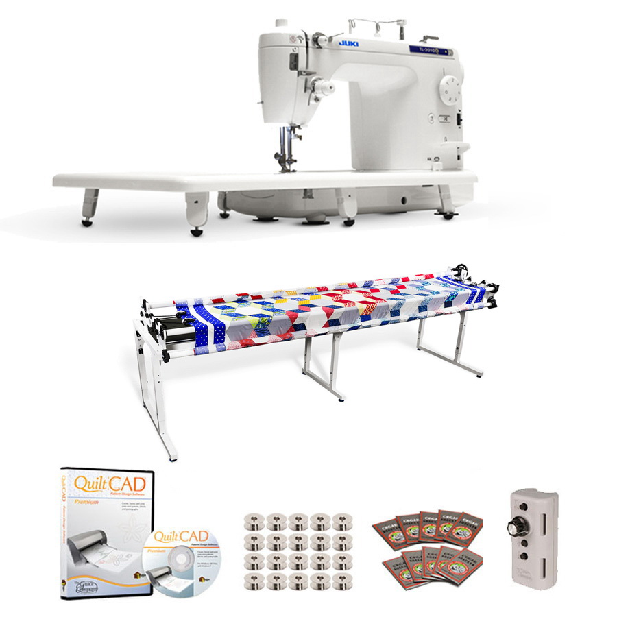 Juki TL-2010Q Long Arm, Grace 8ft Continuum Quilting Frame, Speed Control & QuiltCAD