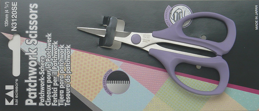 Kai N3120 4 3/4 Inch Serrated Patchwork Scissor