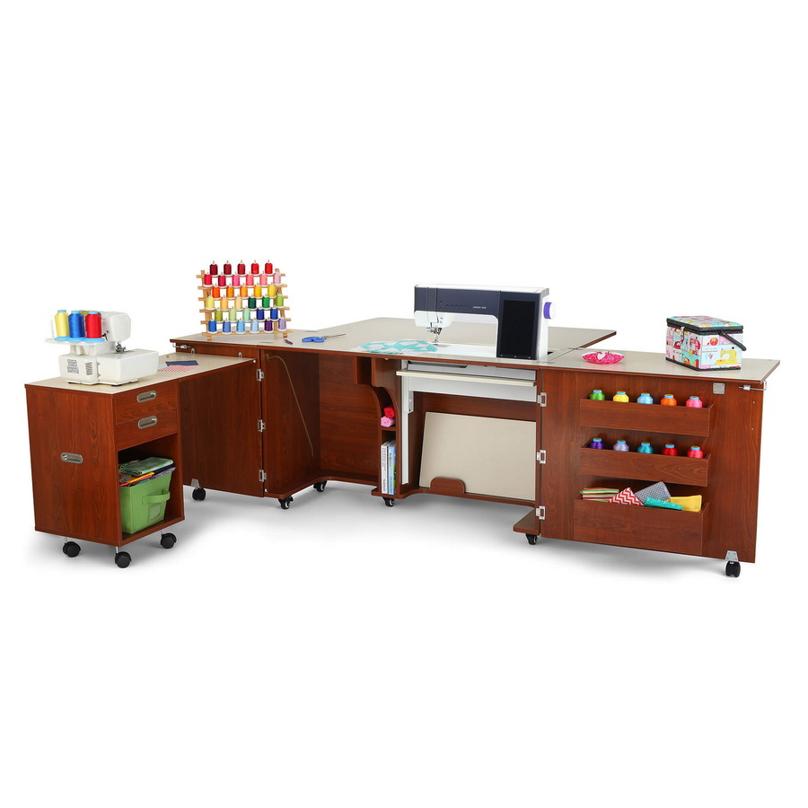 Kangaroo Kabinets Aussie Studio TEAK Sewing Cabinets with Air Lift (AS-TEAK)