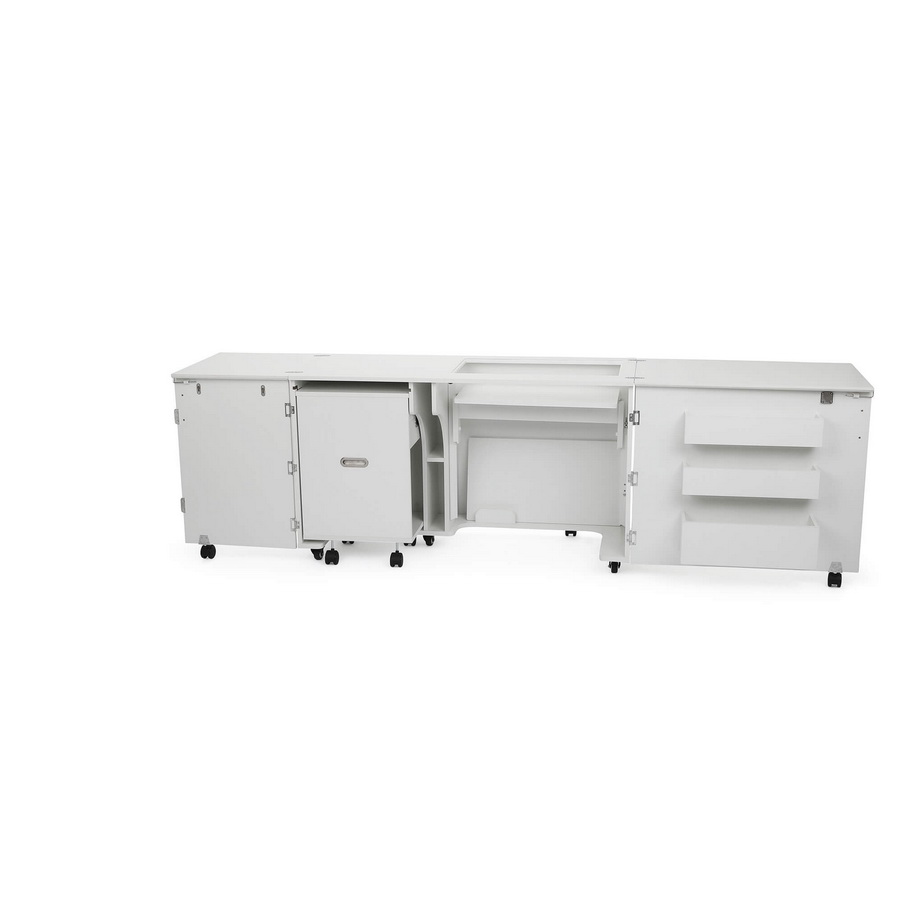 Kangaroo Kabinets Aussie Studio WHITE Sewing Cabinets with Air Lift (AS-WHT)