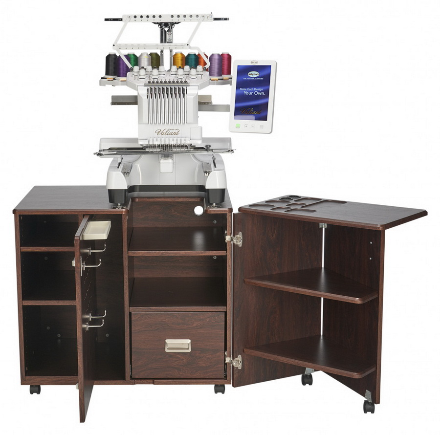 Koala Studios Heritage Embroidery Center Sewing Cabinet (Available in Teak or White)