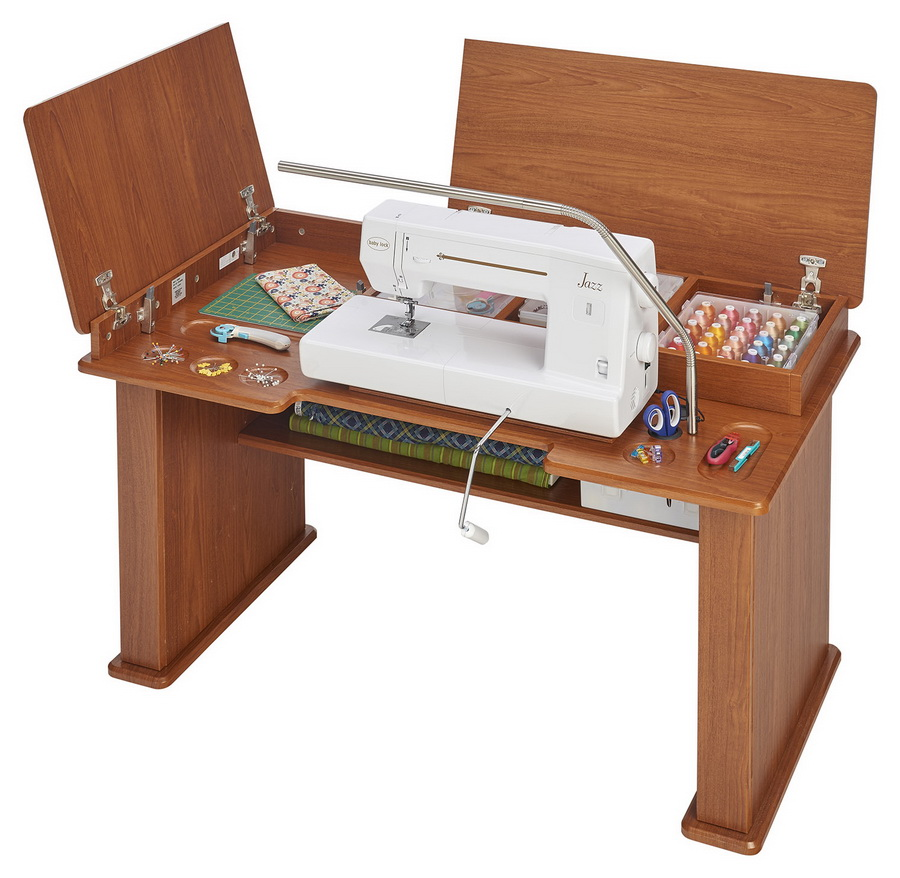 Koala Studios Sewing Station Cabinet (Available in Teak or White)