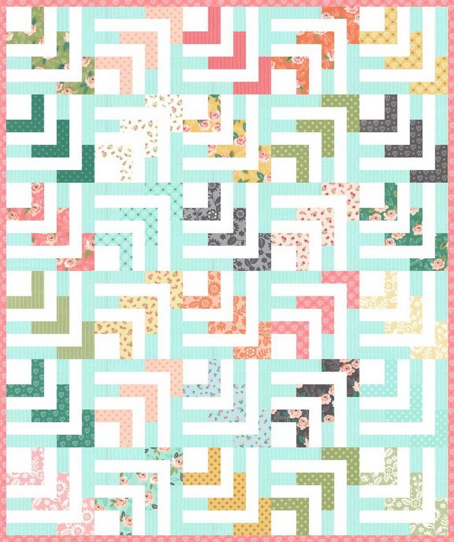 Lella Boutique - Beach Comber Quilt Fabric Kit