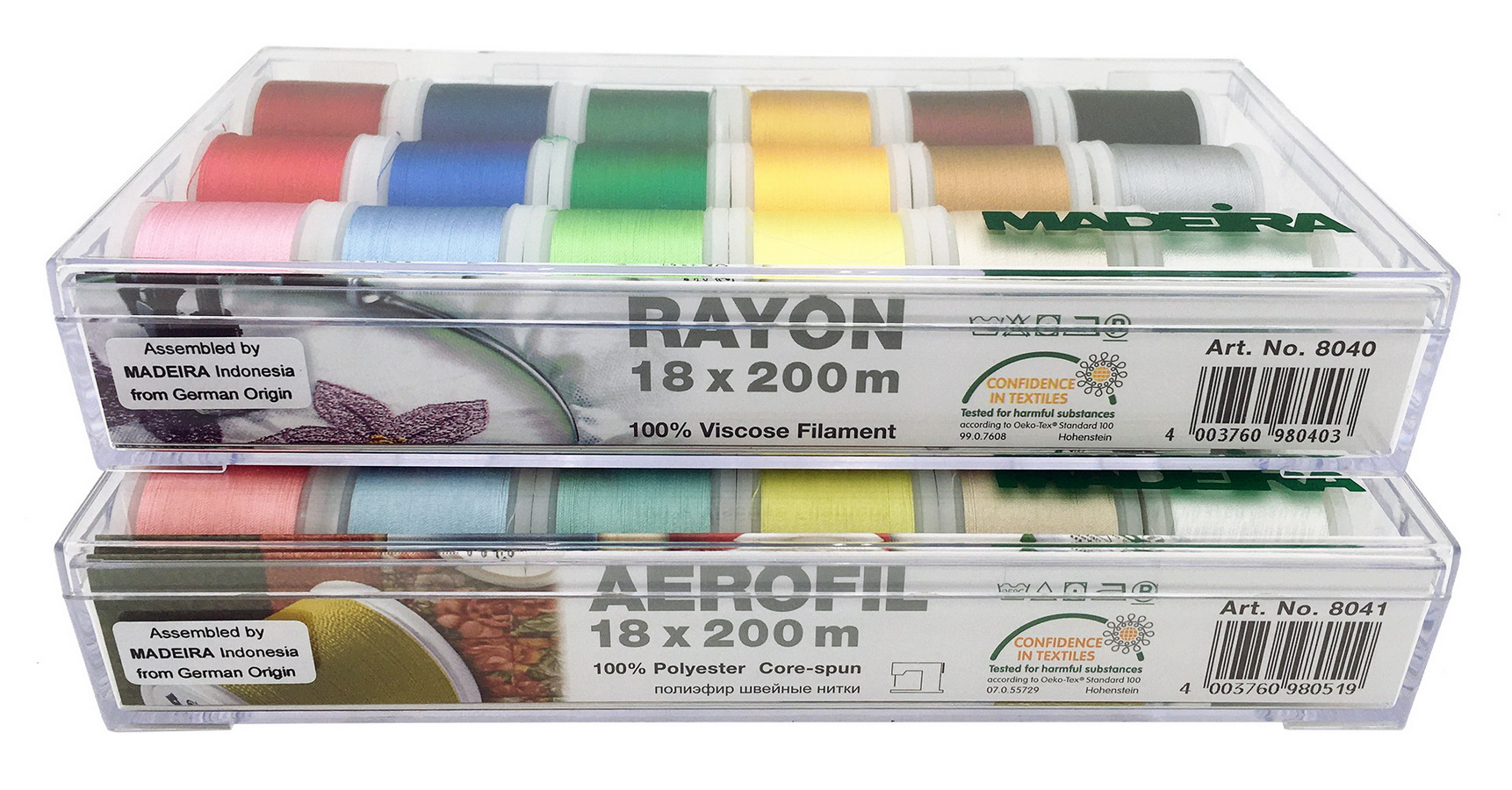 Doorbuster Madeira 36 Spool Thread Set (2 18 Spool Thread Kits) Rayon & Aerofil