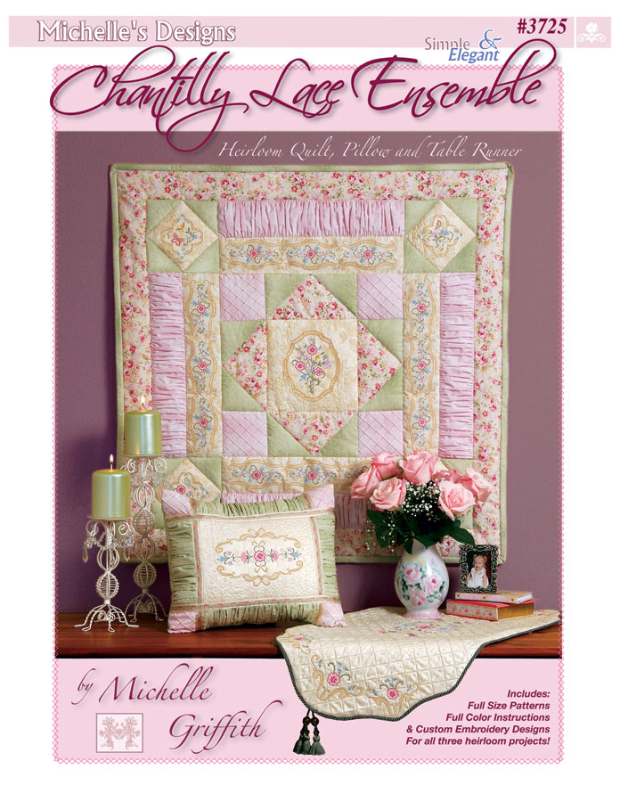 Michelles Designs - Chantilly Lace Embroidery Designs and Book (#3725)