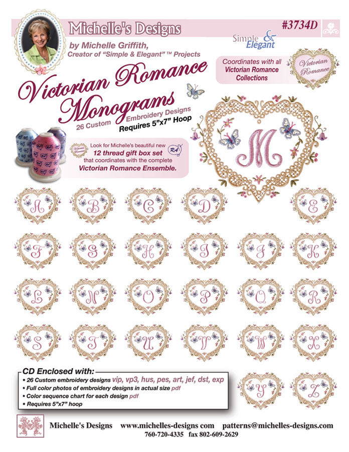 Michelles Designs - Monogram Embroidery Designs (#3734D)