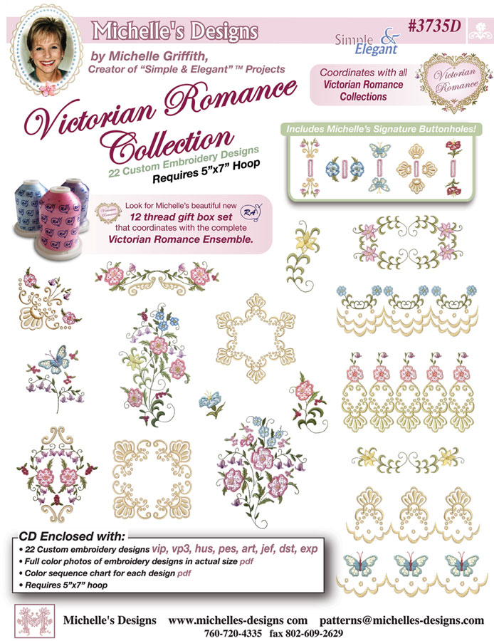 Michelles Designs - Victorian Romance Collection (#3735D)