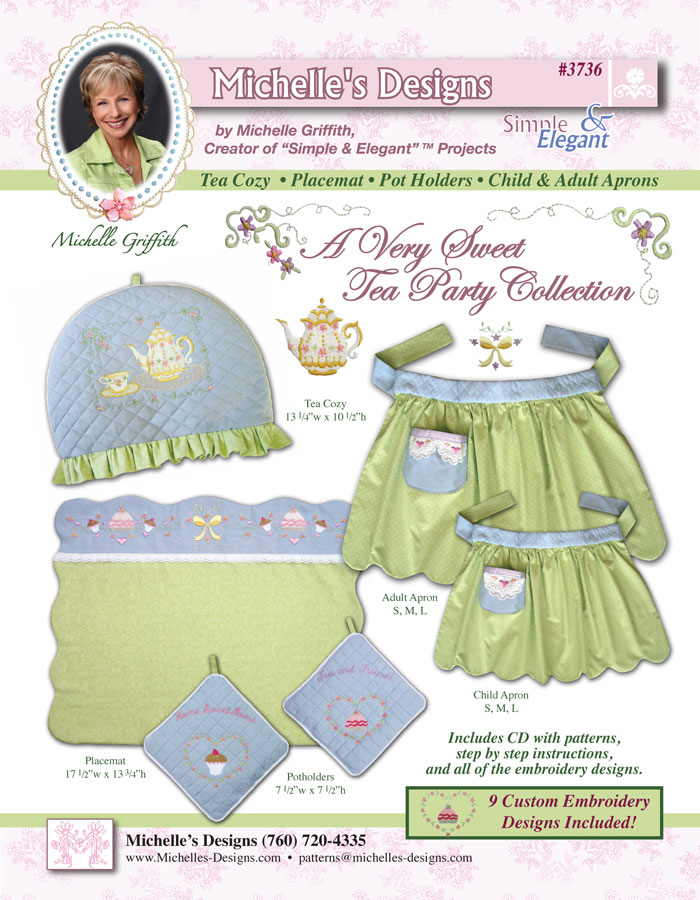 Michelles Designs - A Very Sweet Tea Party and Embroidery Collection (#3736)