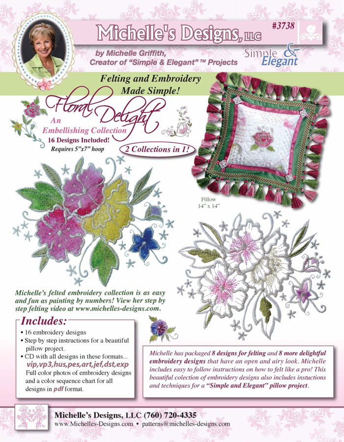 Michelles Designs - Floral Delight Embroidery Collection (#3738)