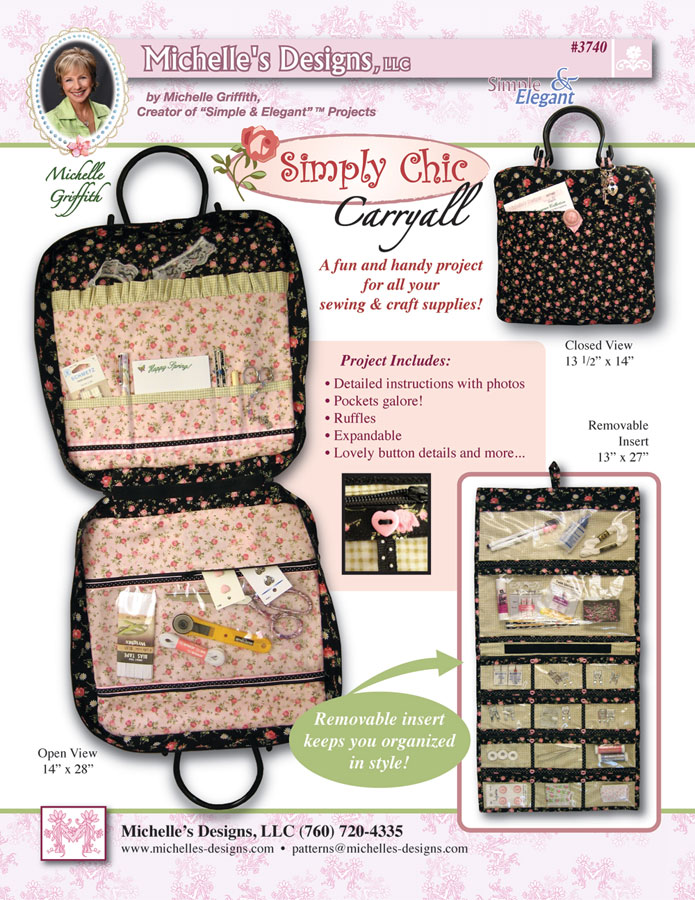 Michelles Designs - Simply Chic Carry All Pattern (#3740)