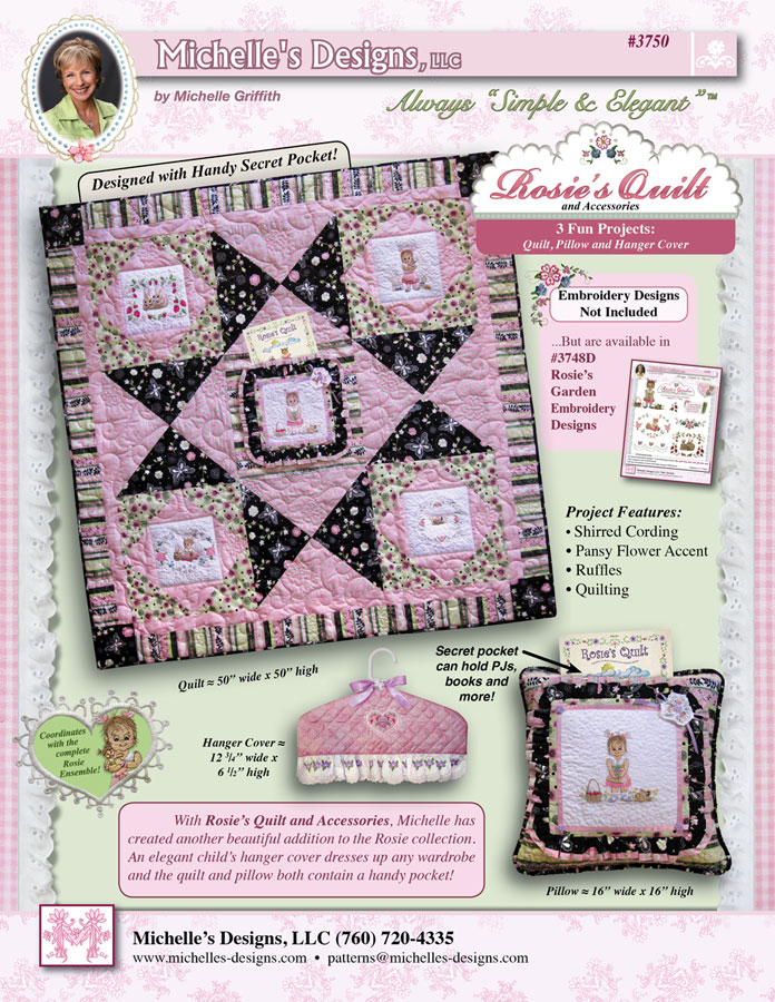 Michelles Designs - Rosies Quilt and Accessory Book (#3750)