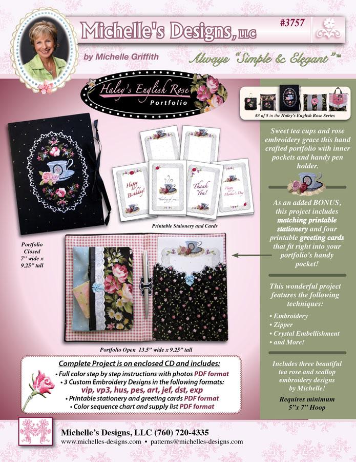 Michelles Designs - Haileys Rose Portfolio Pattern (#3757)
