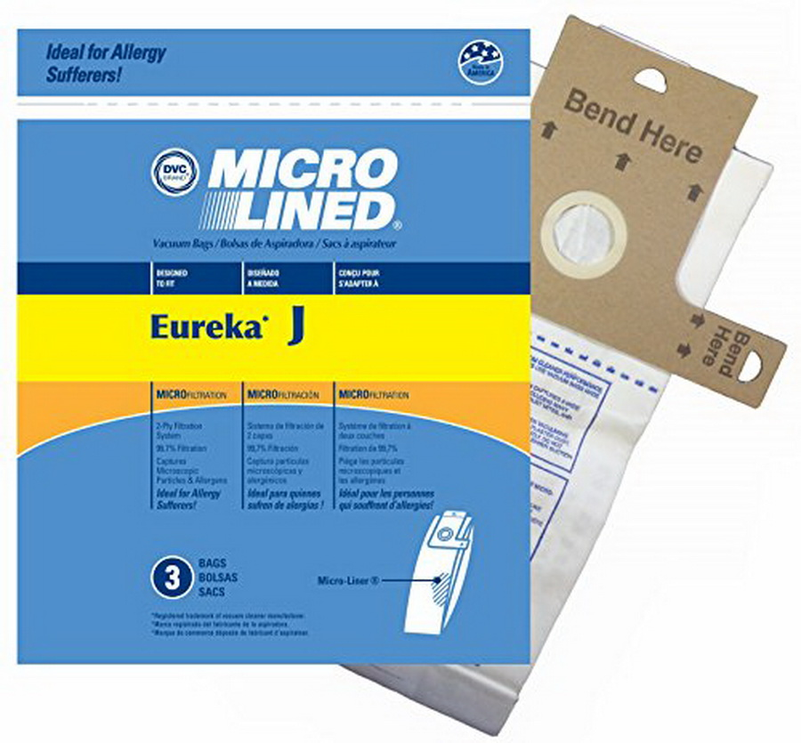 MicroLined Anti-Bacterial Vacuum Cleaner Bags, Eureka style J